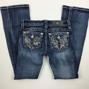 Miss Me Jeans Size 24 Mid-Rise #JE8991BR Boot (z)^